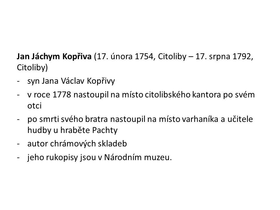 Jan Jáchym Kopřiva (17. února 1754, Citoliby – 17
