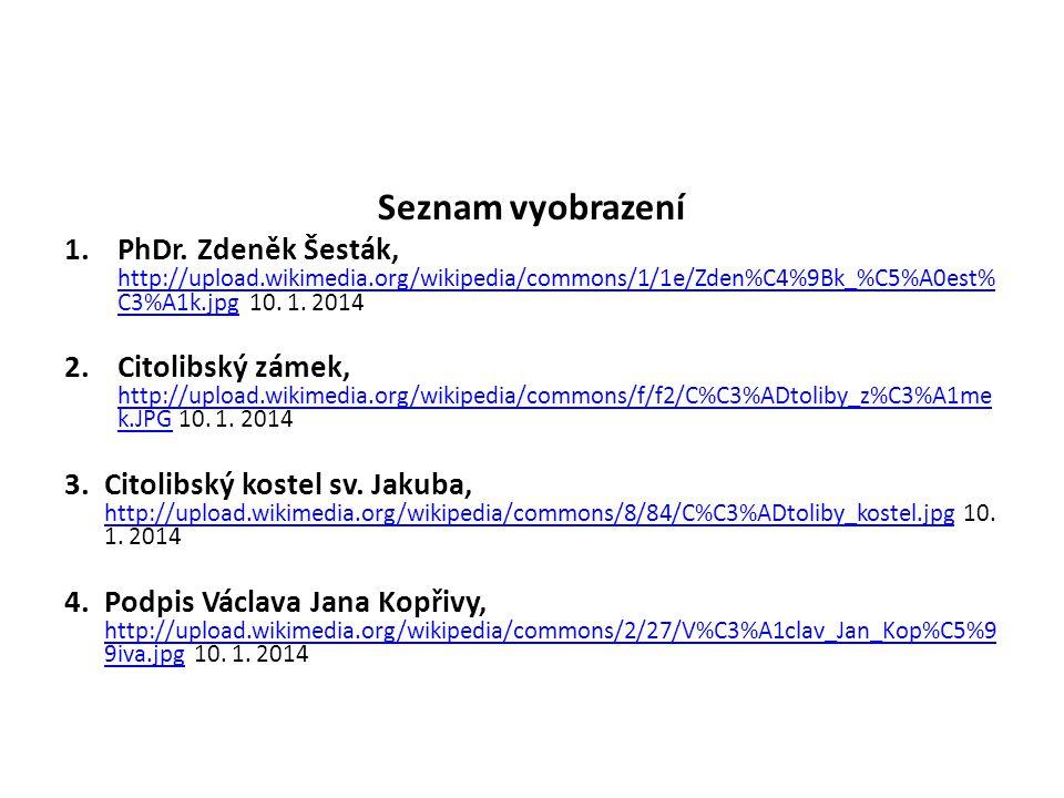 Seznam vyobrazení PhDr. Zdeněk Šesták, http://upload.wikimedia.org/wikipedia/commons/1/1e/Zden%C4%9Bk_%C5%A0est%C3%A1k.jpg 10. 1. 2014.