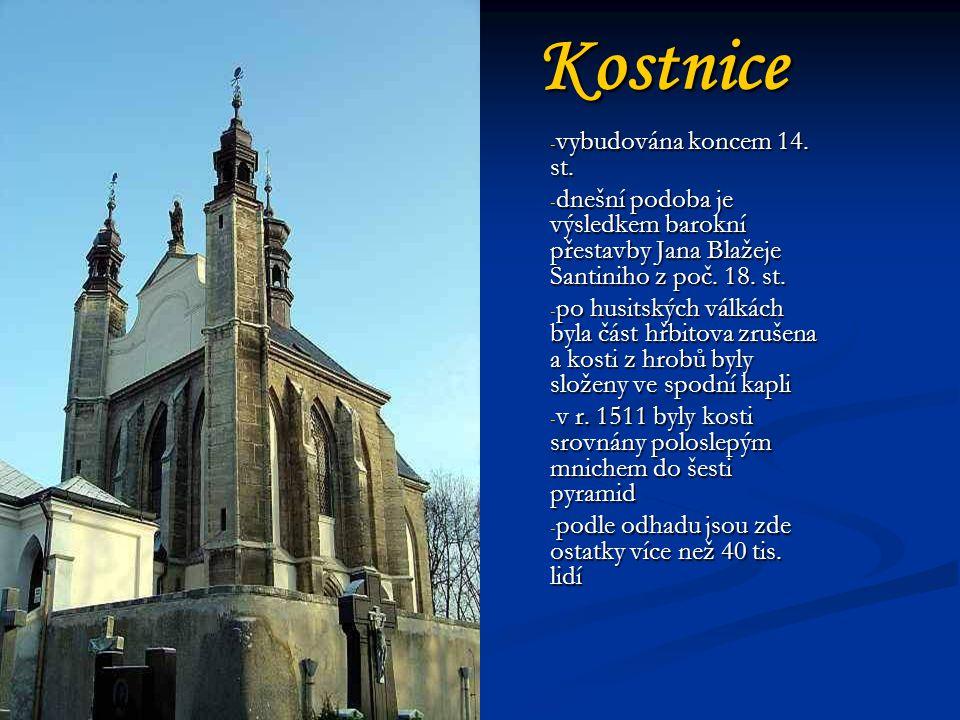 Kostnice vybudována koncem 14. st.