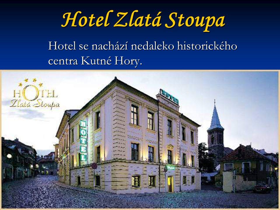 Hotel se nachází nedaleko historického centra Kutné Hory.