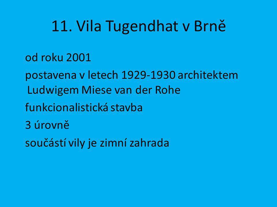 11. Vila Tugendhat v Brně od roku 2001