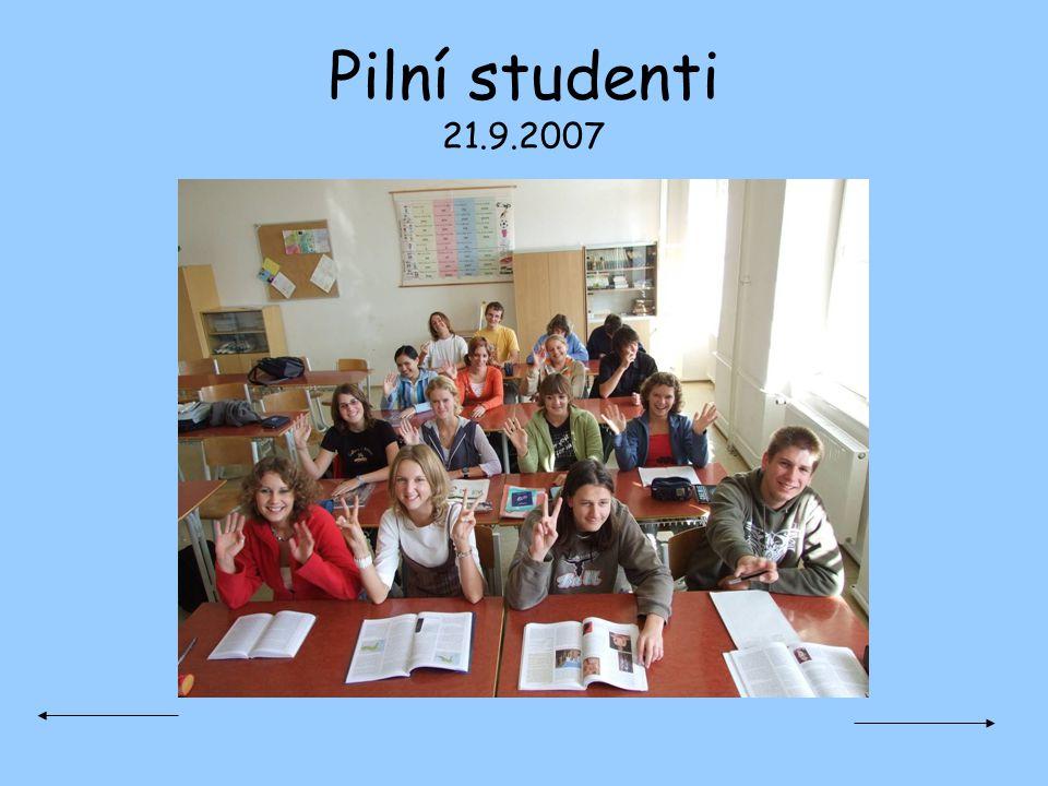 Pilní studenti 21.9.2007
