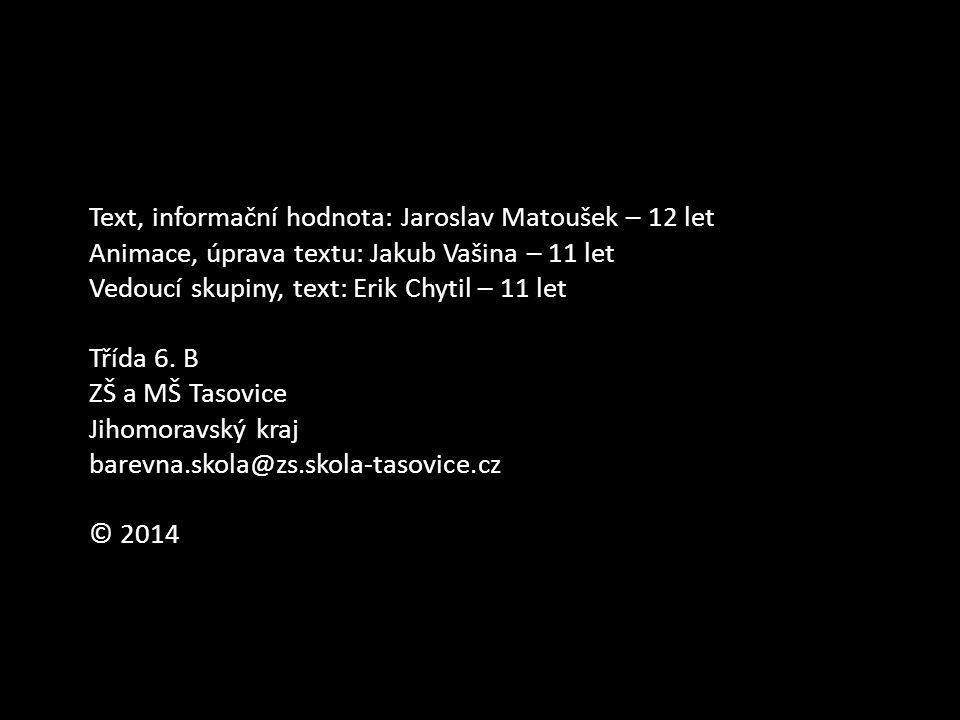 Text, informační hodnota: Jaroslav Matoušek – 12 let