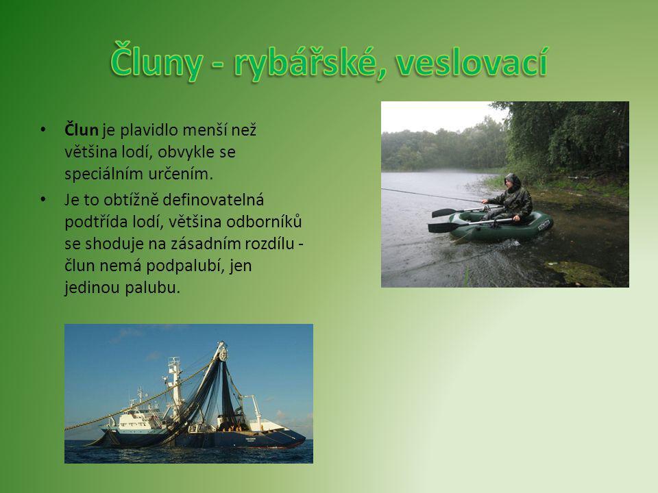 Čluny - rybářské, veslovací