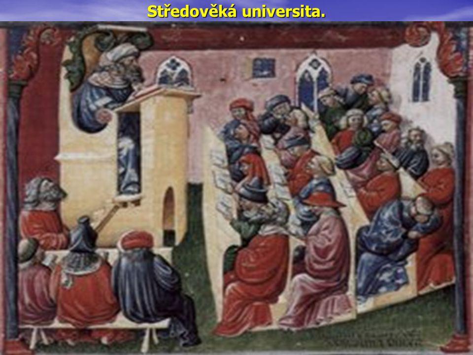 Středověká universita.