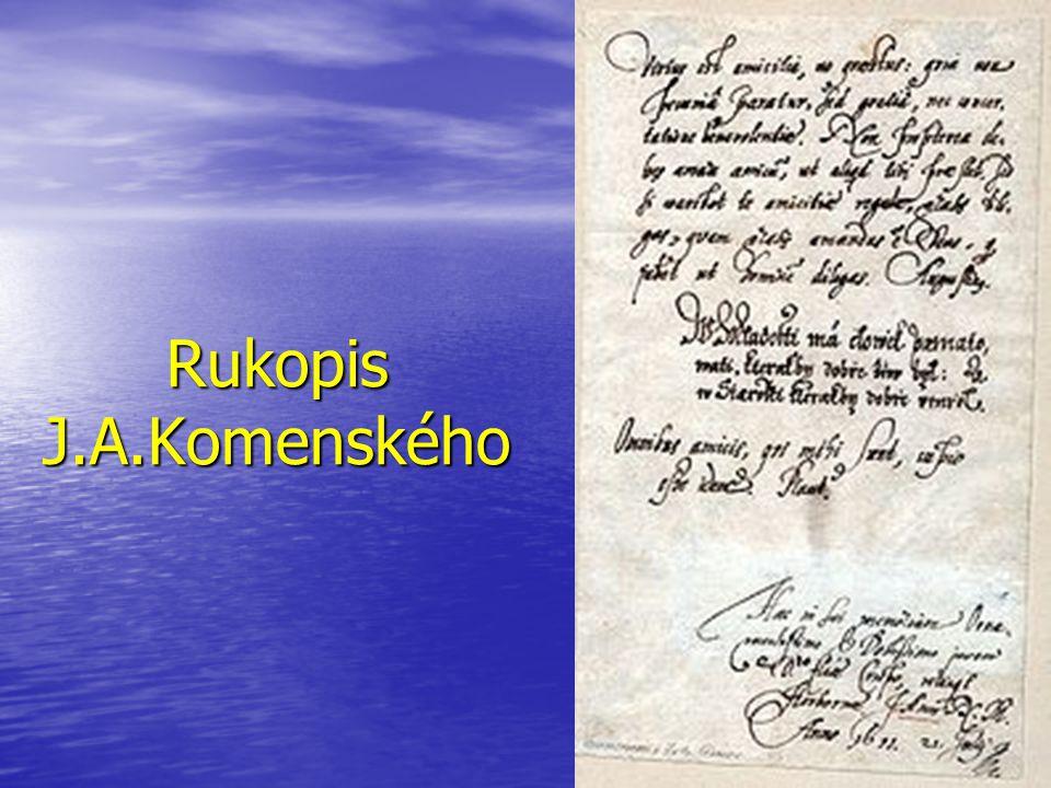 Rukopis J.A.Komenského