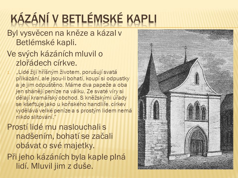 Kázání v betlémské kapli