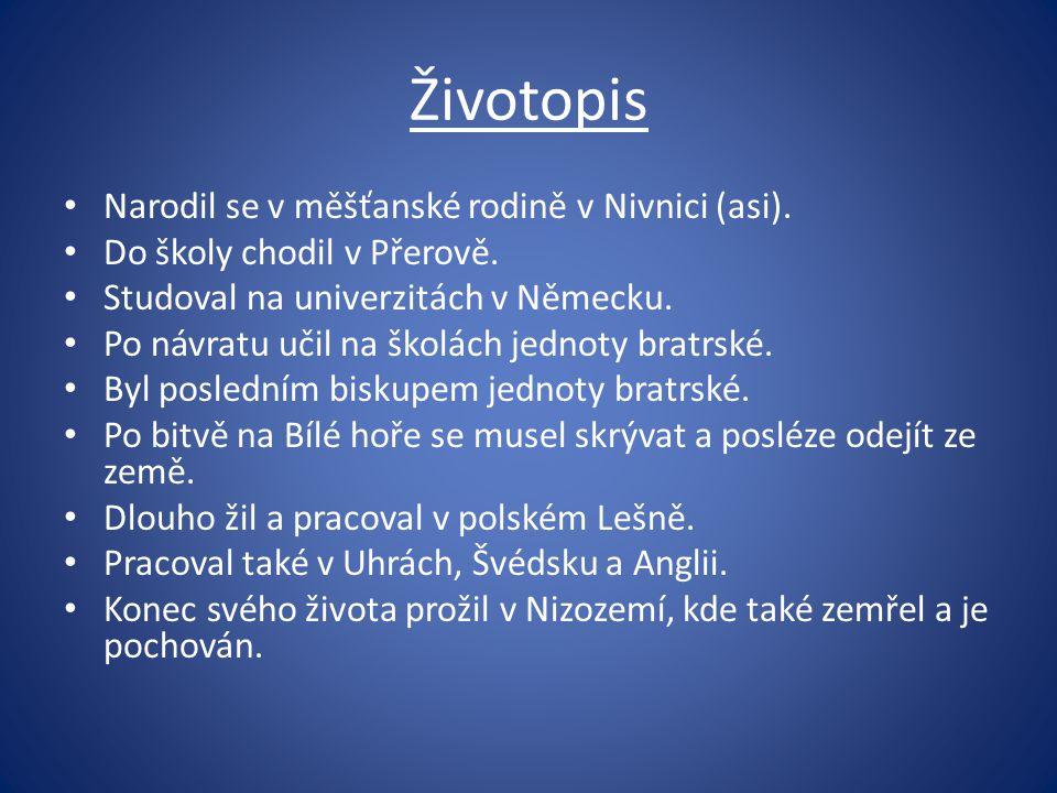 Životopis Narodil se v měšťanské rodině v Nivnici (asi).