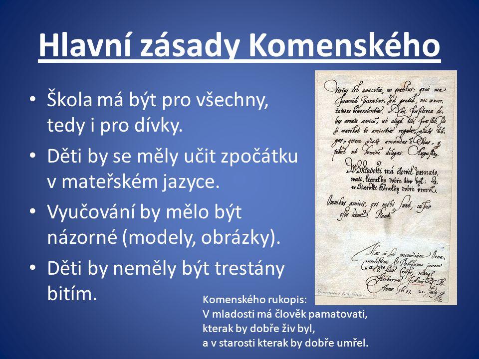 Hlavní zásady Komenského