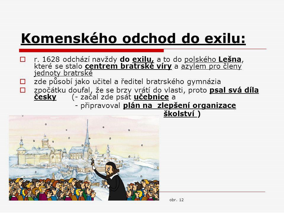 Komenského odchod do exilu: