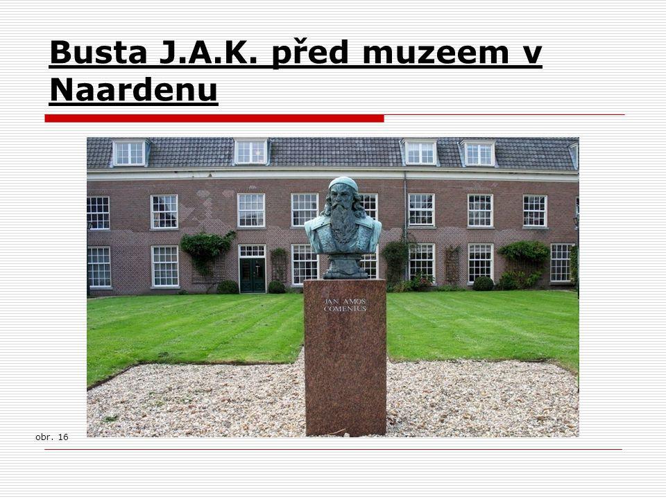 Busta J.A.K. před muzeem v Naardenu