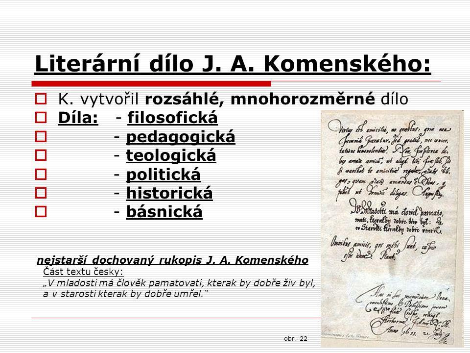 Literární dílo J. A. Komenského: