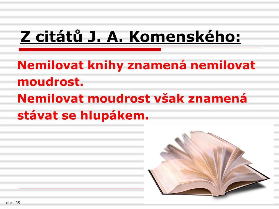 Z citátů J. A. Komenského: