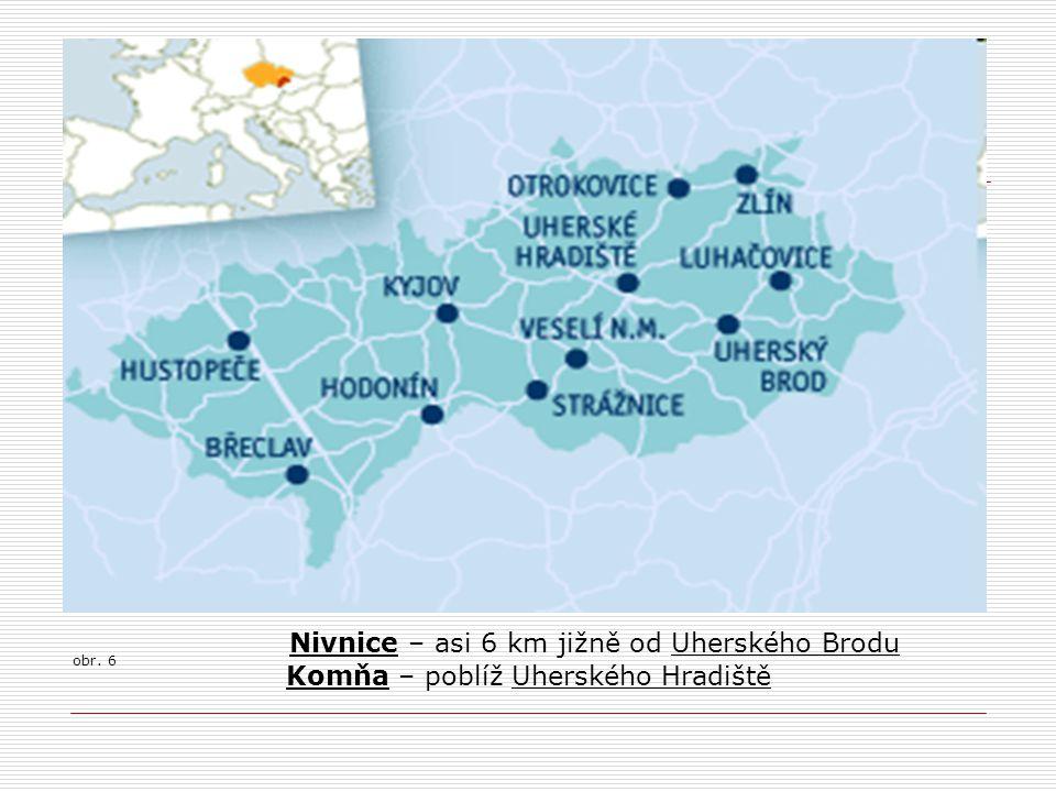Nivnice – asi 6 km jižně od Uherského Brodu