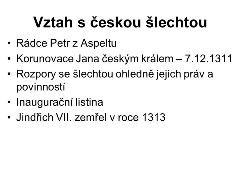 Vztah s českou šlechtou
