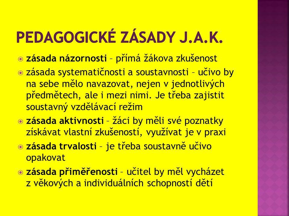 PEDAGOGICKÉ ZÁSADY J.A.K.