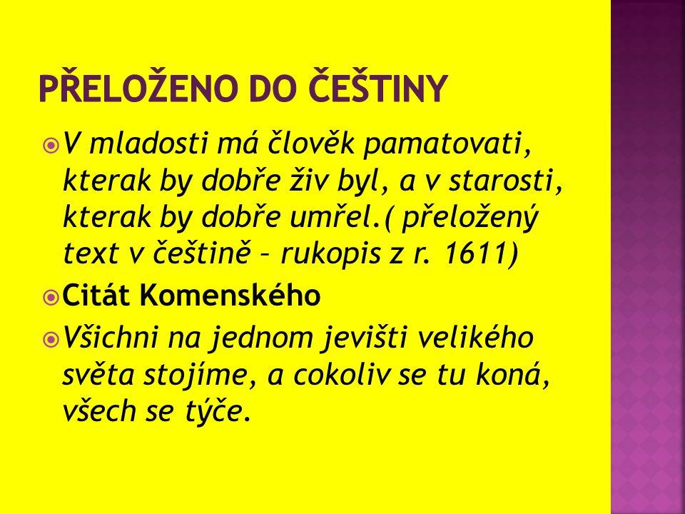 Přeloženo do češtiny