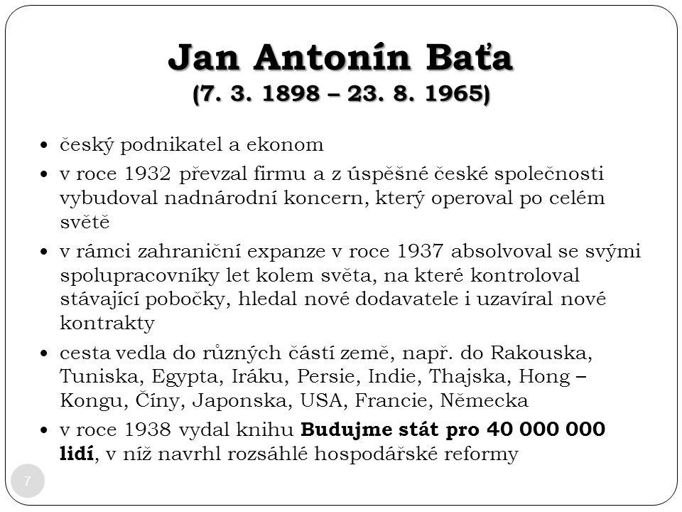 Jan Antonín Baťa (7. 3. 1898 – 23. 8. 1965) český podnikatel a ekonom