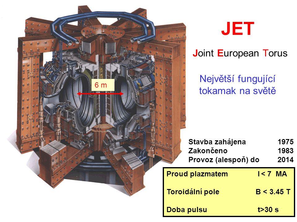 JET Joint European Torus Největší fungující tokamak na světě