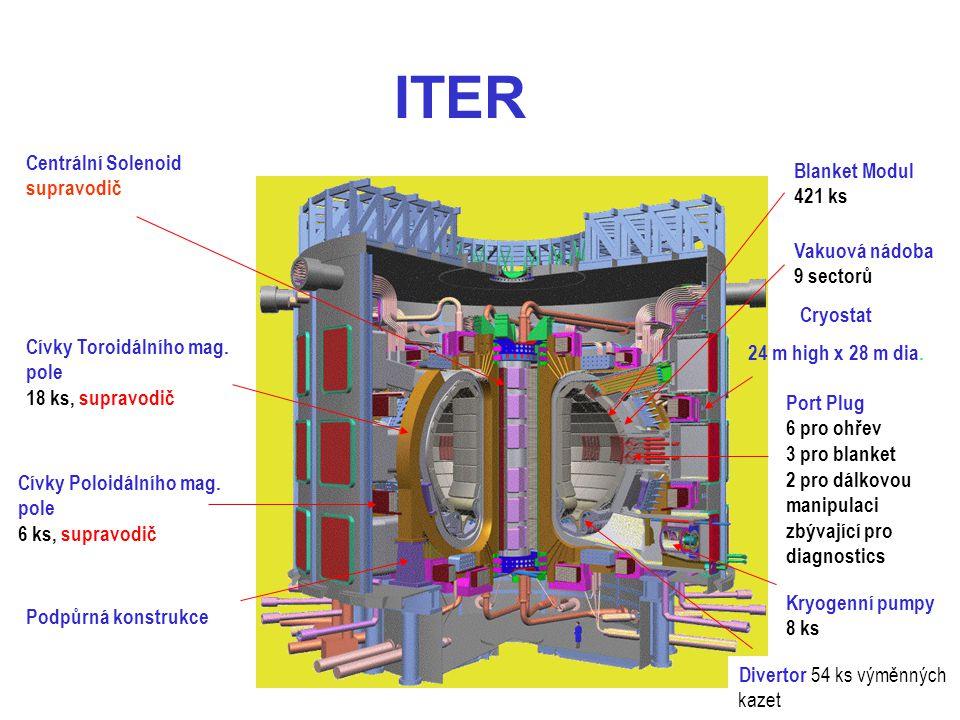 ITER Centrální Solenoid Blanket Modul supravodič 421 ks Vakuová nádoba