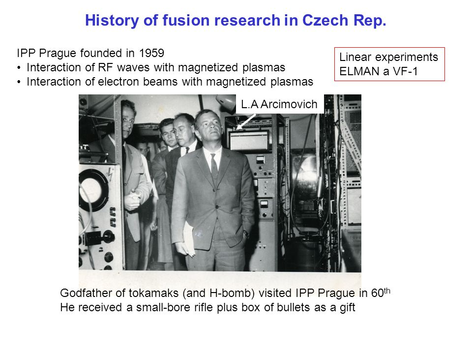 History of fusion research in Czech Rep.