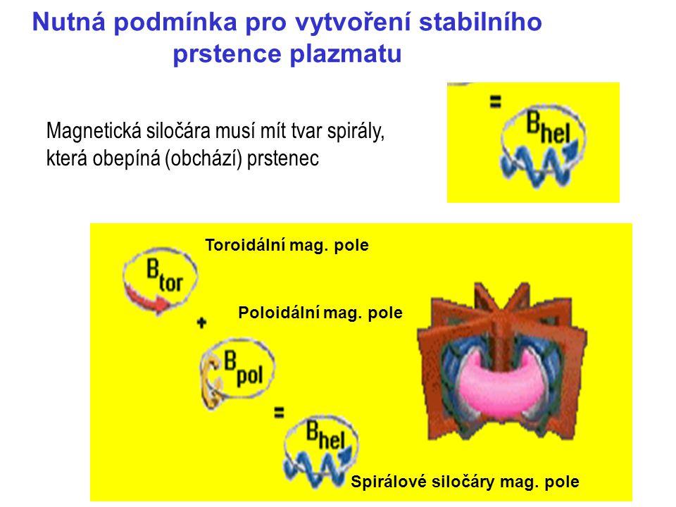 Nutná podmínka pro vytvoření stabilního prstence plazmatu