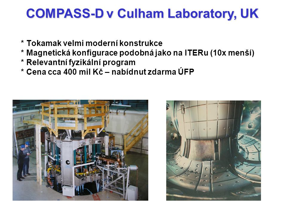 COMPASS-D v Culham Laboratory, UK