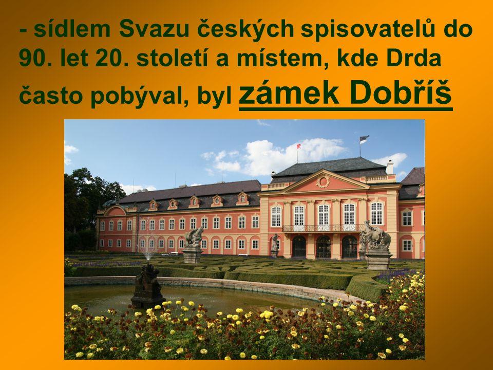 - sídlem Svazu českých spisovatelů do 90. let 20