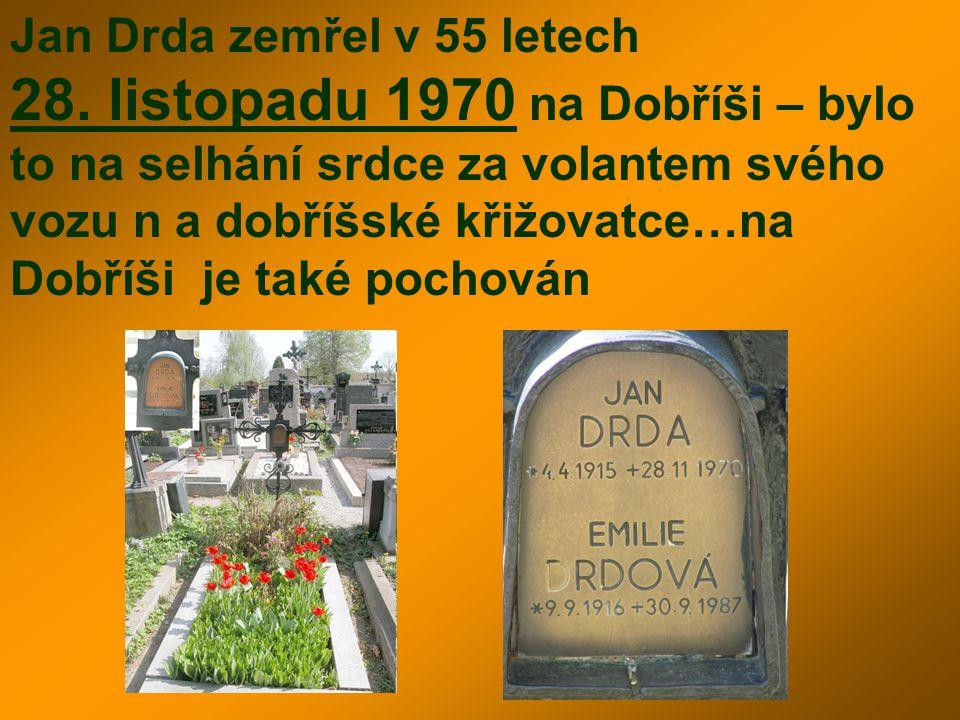 Jan Drda zemřel v 55 letech 28