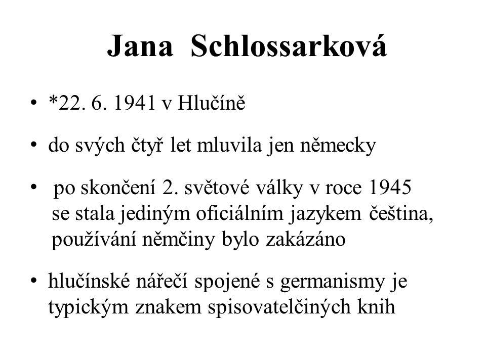 Jana Schlossarková *22. 6. 1941 v Hlučíně