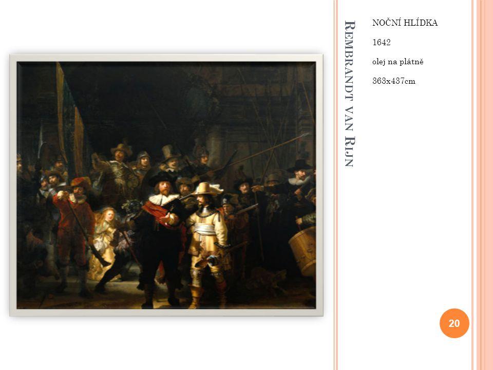 Noční hlídka 1642 olej na plátně 363x437cm Rembrandt van Rijn