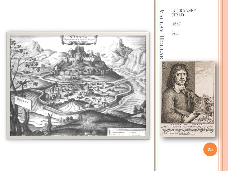 Václav Hollar NITRANSKÝ HRAD 1657 lept