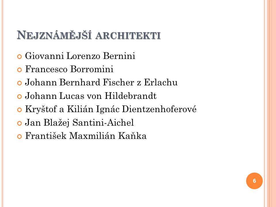 Nejznámější architekti