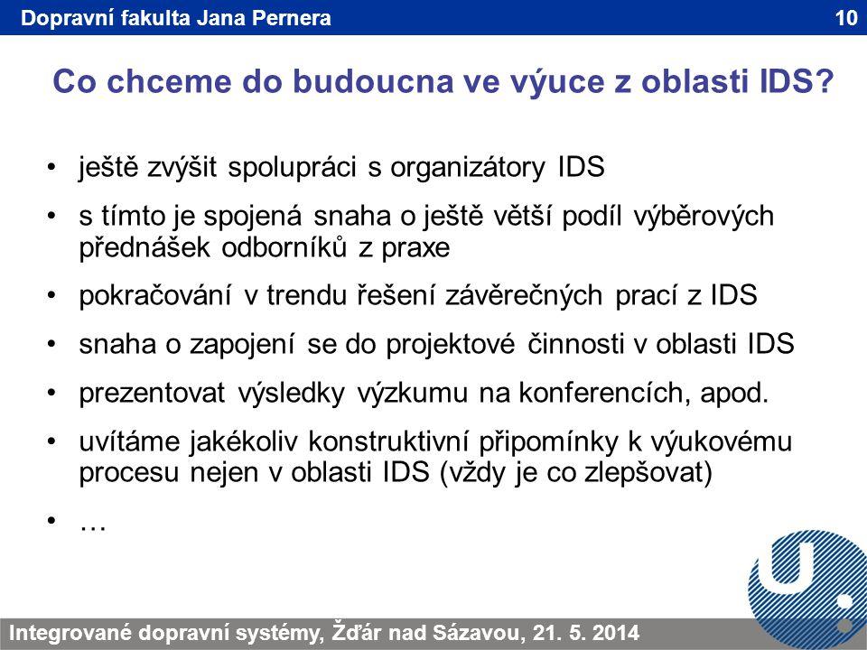 Co chceme do budoucna ve výuce z oblasti IDS