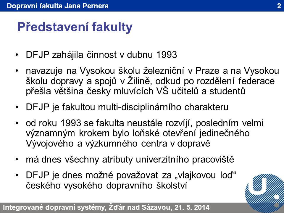 Představení fakulty DFJP zahájila činnost v dubnu 1993