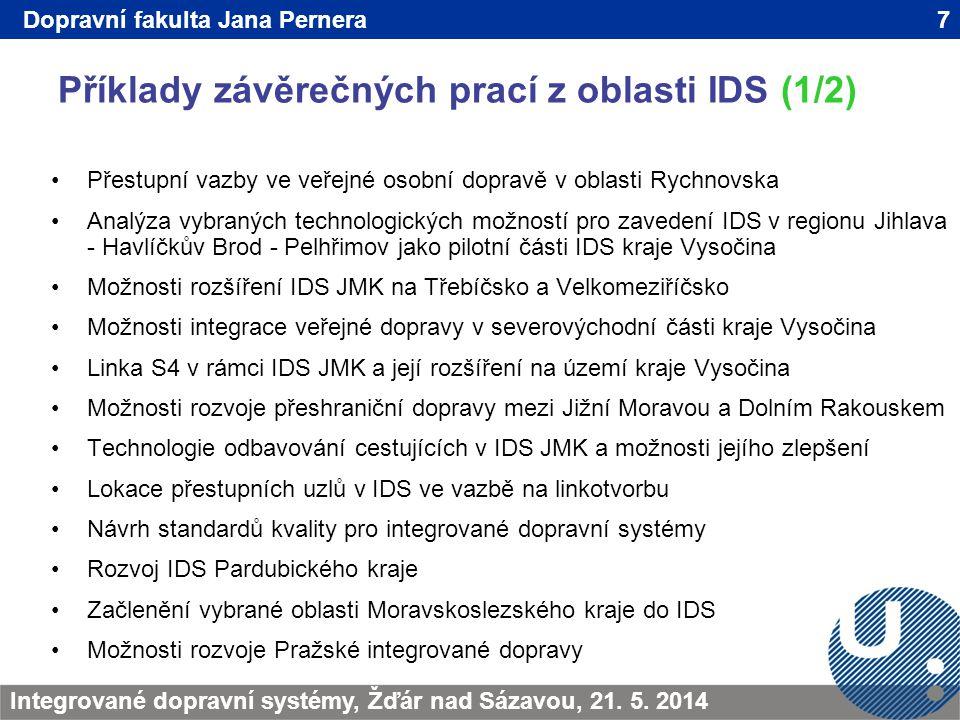 Příklady závěrečných prací z oblasti IDS (1/2)