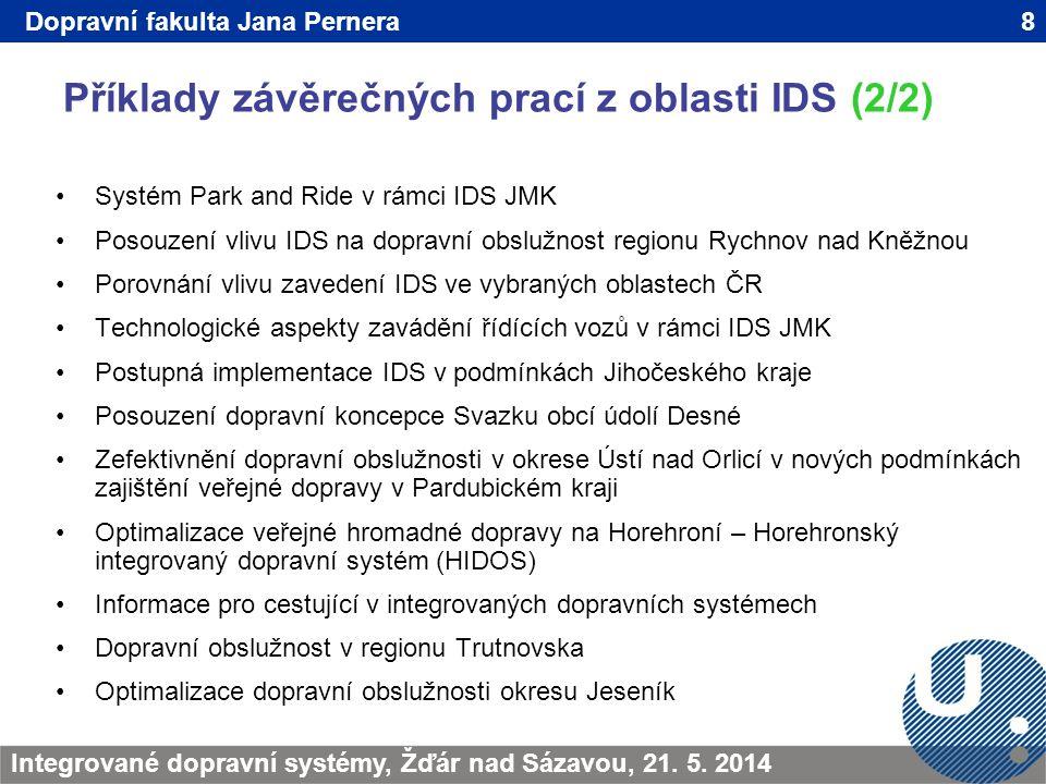 Příklady závěrečných prací z oblasti IDS (2/2)