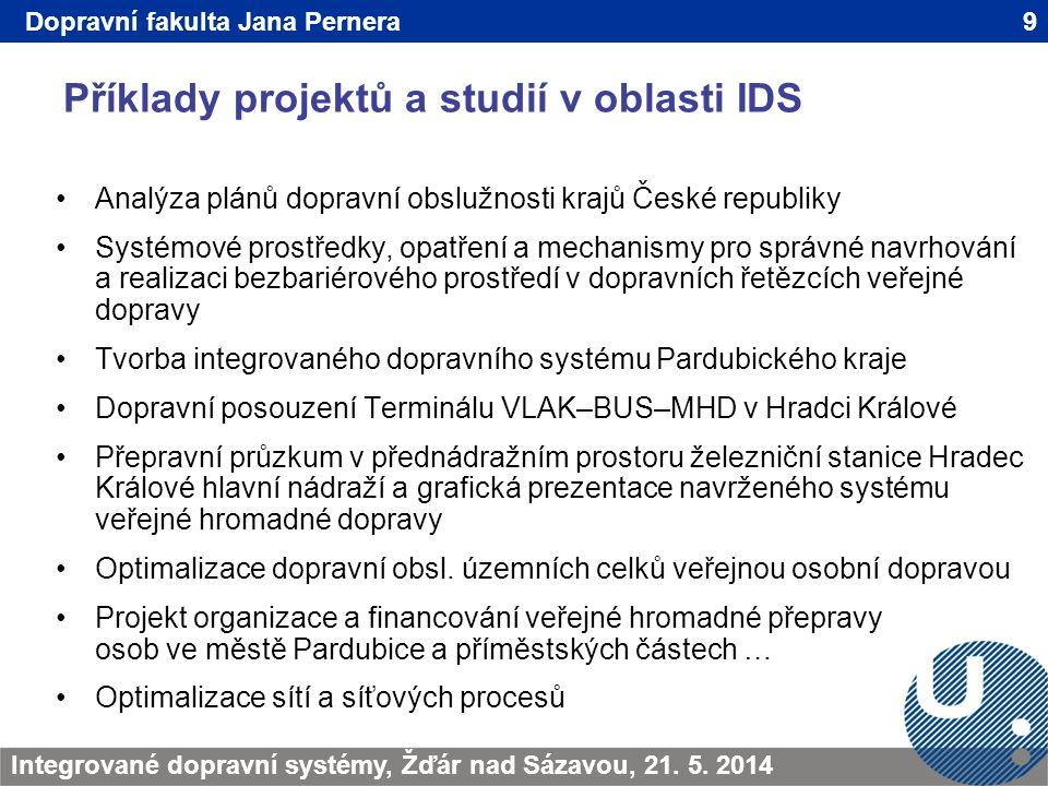 Příklady projektů a studií v oblasti IDS