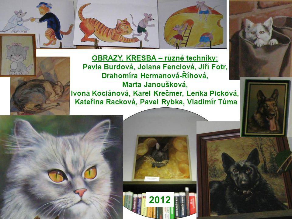 2012 OBRAZY, KRESBA – různé techniky: