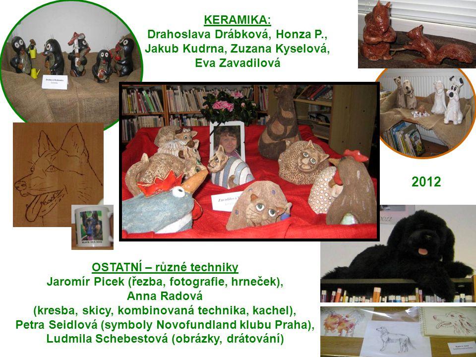 KERAMIKA: Drahoslava Drábková, Honza P., Jakub Kudrna, Zuzana Kyselová, Eva Zavadilová. 2012. OSTATNÍ – různé techniky.