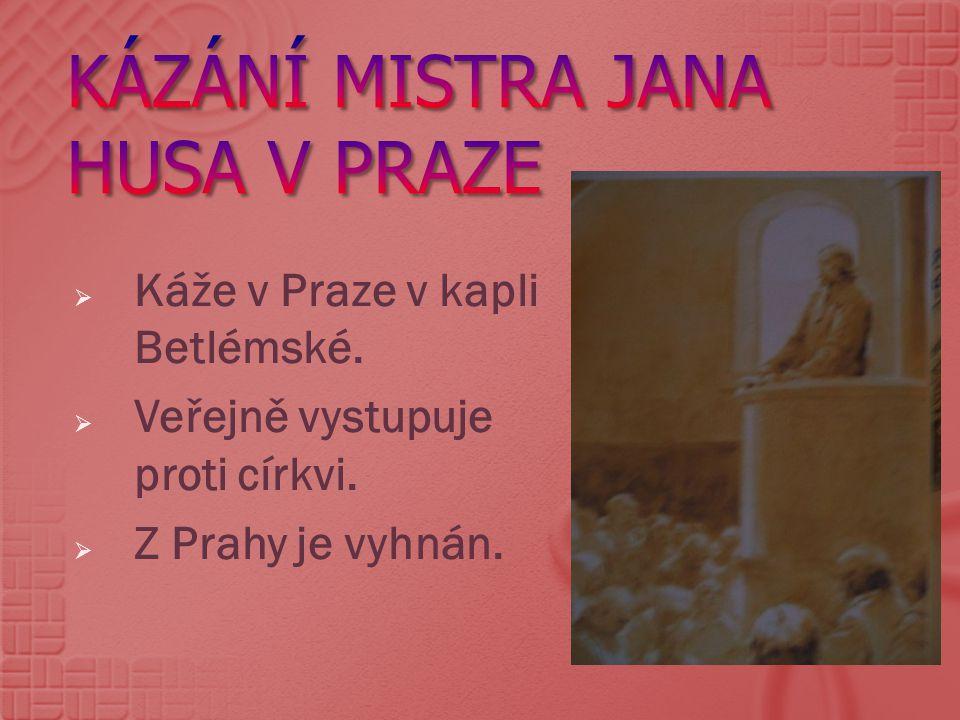 Kázání Mistra Jana Husa v Praze
