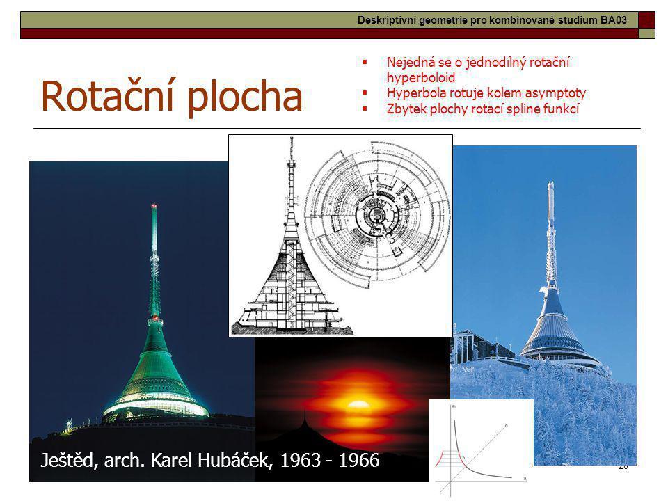 Rotační plocha Ještěd, arch. Karel Hubáček, 1963 - 1966