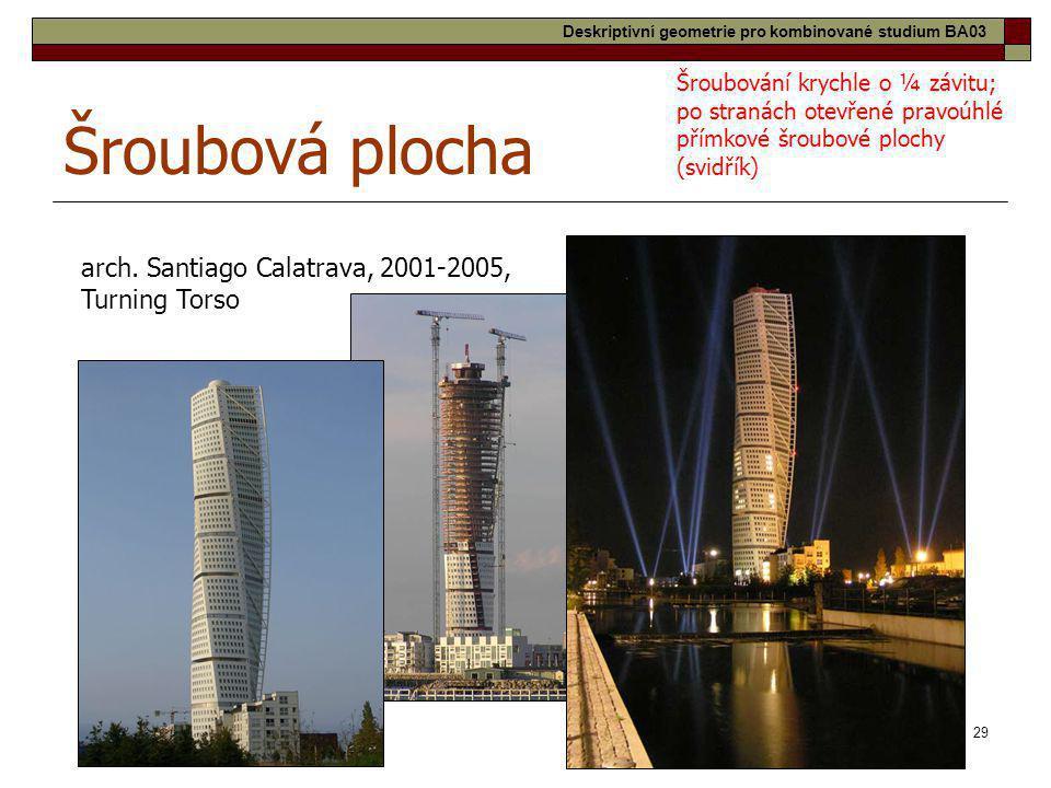Šroubová plocha arch. Santiago Calatrava, 2001-2005, Turning Torso