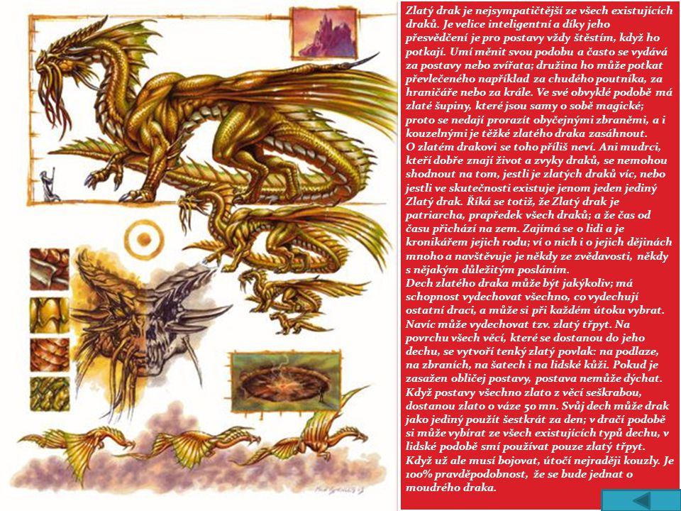 Zlatý drak je nejsympatičtější ze všech existujících draků