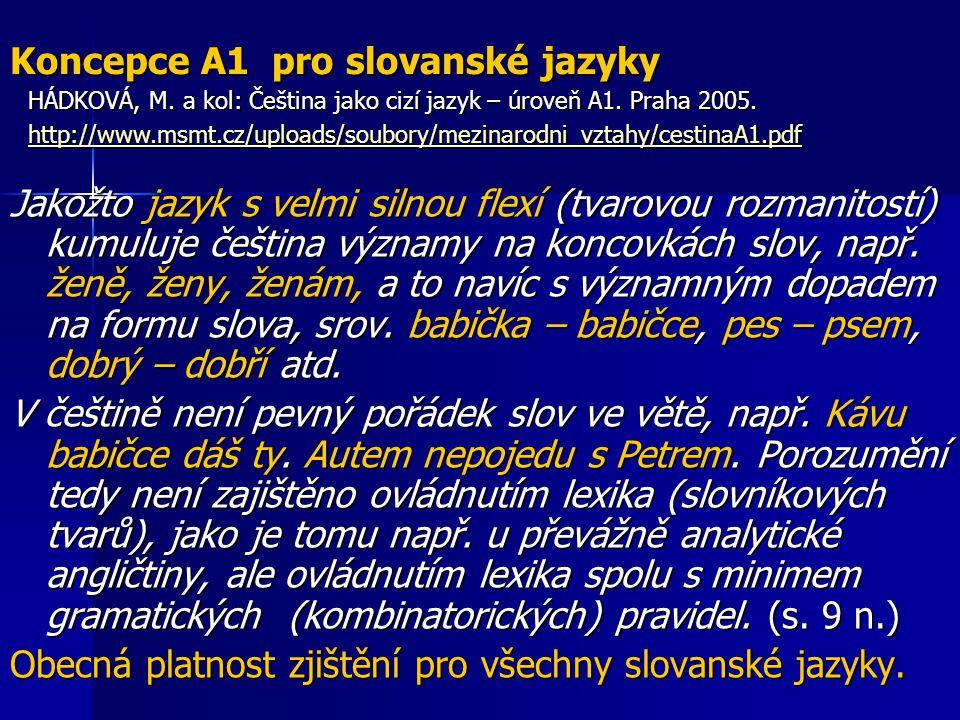 Koncepce A1 pro slovanské jazyky