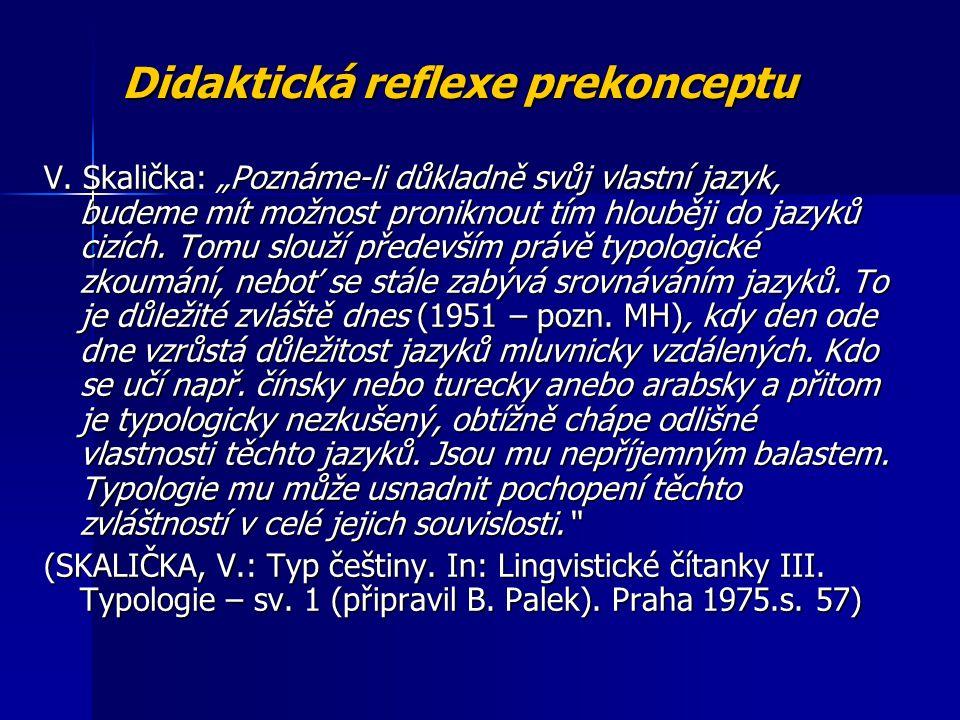 Didaktická reflexe prekonceptu