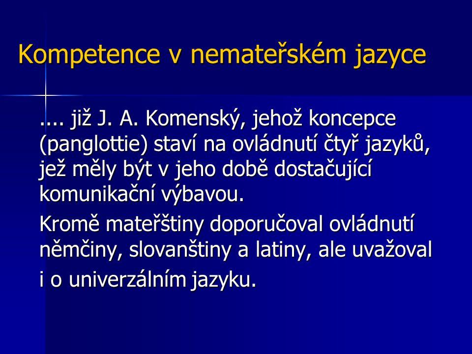 Kompetence v nemateřském jazyce