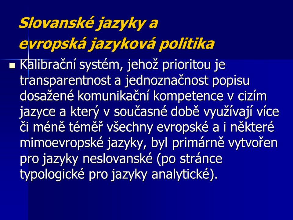 Slovanské jazyky a evropská jazyková politika