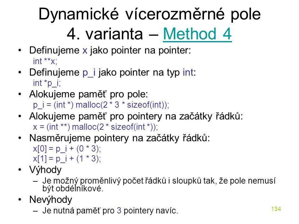 Dynamické vícerozměrné pole 4. varianta – Method 4