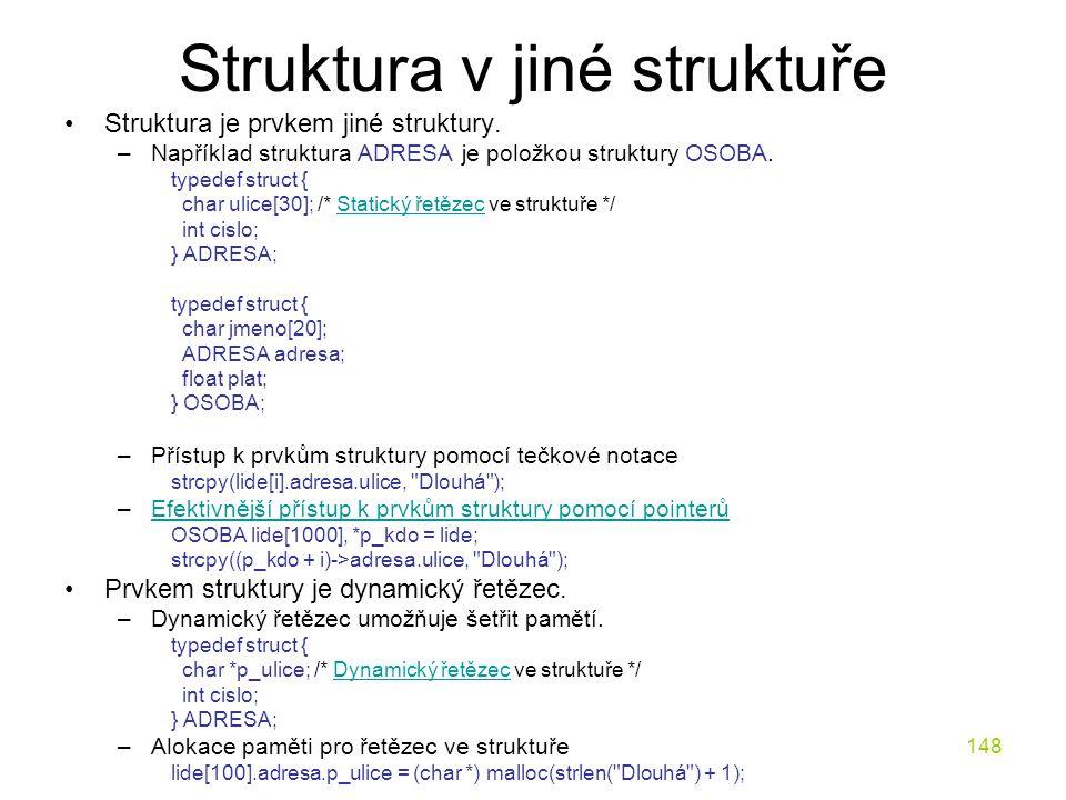 Struktura v jiné struktuře